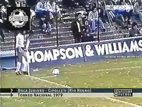 Gol Olímpico de Cipolletti a Boca en la Bombonera