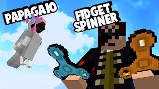 NOVOS PAPAGAIOS & CONQUISTA! (E FIDGET SPINNERS) no Minecraft Atualização 1.12
