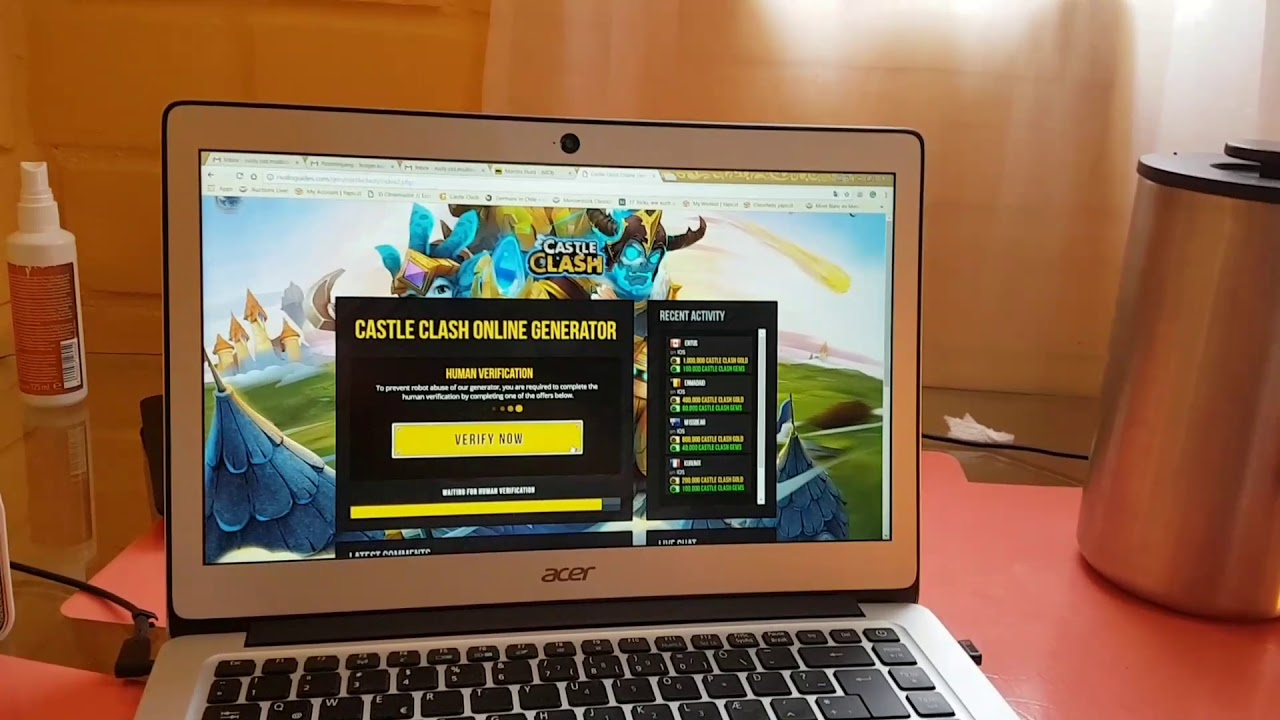 castle clash gem hack no human verification