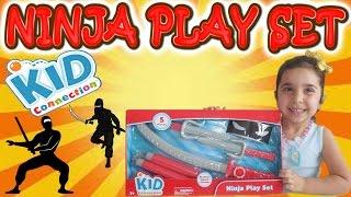 Детский подарочный набор Ниндзя, обзор с Лейлой. Ninja Kids Play Set with Leyla review