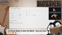 Everybody Wants To Rule The World - Tears for Fears Guitar Backing Track with chords and lyrics