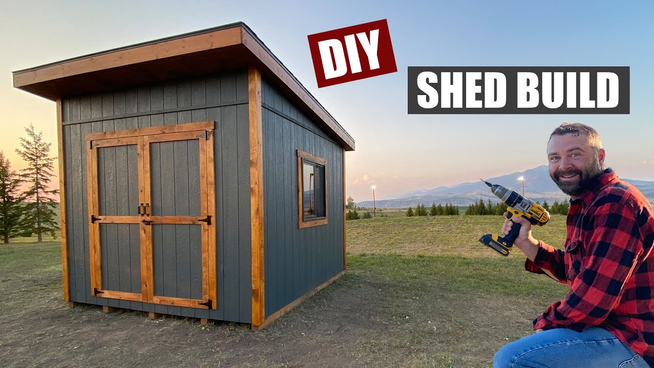 Download Building a Shed from Start to Finish - Lean to style Shed