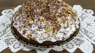 Торт сметанный низкокалорийный. Рецепт приготовления.