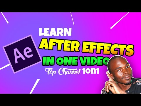 learn after effects in one video noob to pro series