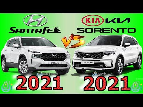 So sánh Hyundai Santa Fe 2021 và Kia Sorento 2021 #santafe2021 #santafe2022 #sorento2021