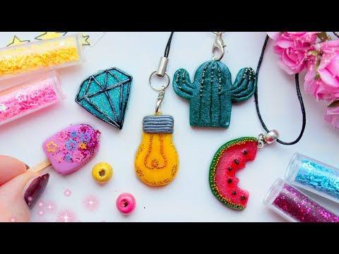 ♡-5-cute-diy-charms-♡-easy-crafts-♡-polymer-clay