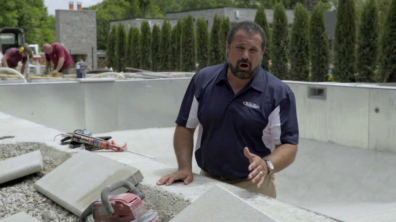 Pool Coping Installation - Preparation And Adhesion