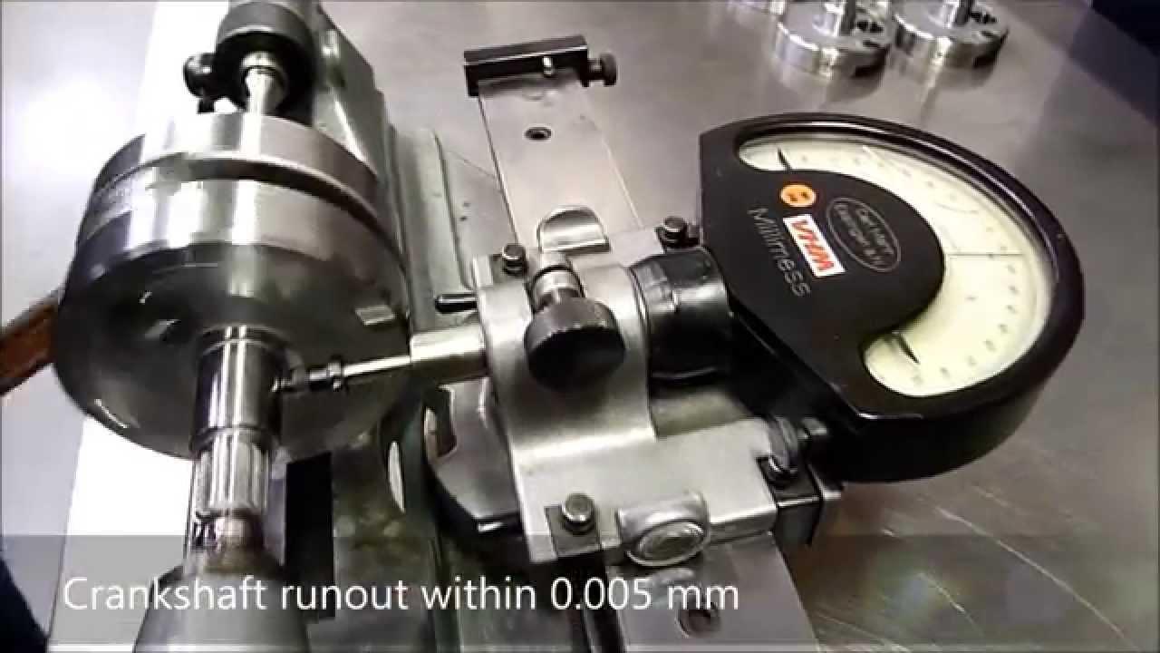 VHM YZ125 '05-17 crankshaft runout within 0 01 mm