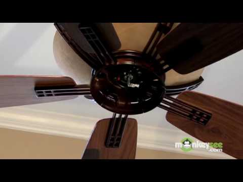 Ceiling Fan Installation - Installing the Blades and Casing