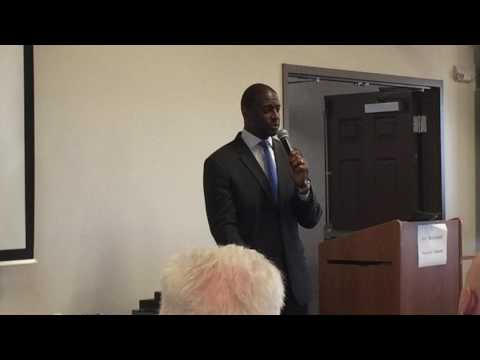 Tallahassee Mayor Andrew Gillum addresses Progressive Democratic Caucus of Florida 3/18/17