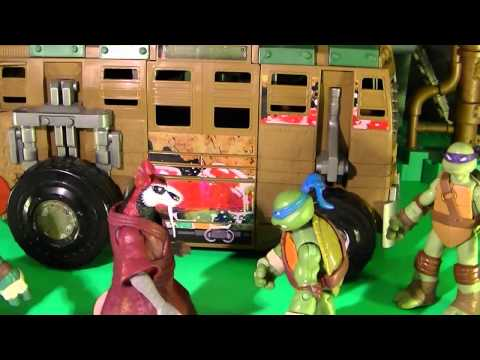 Teenage Mutant Ninja Turtles Toys Shellraiser Video with TMNT 1987 Mikey
