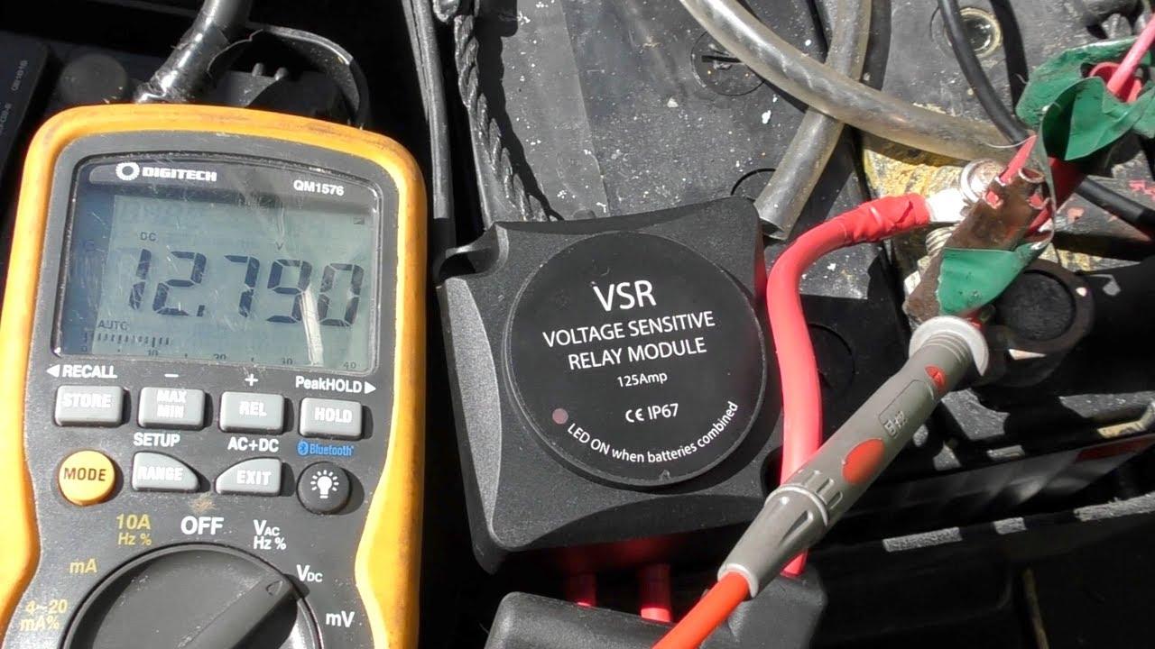 Voltage Sensitive Relay  Vsr  Installation