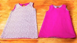 Costura: Vestido Infantil 2 EM 1 – [ COSTURA FÁCIL]