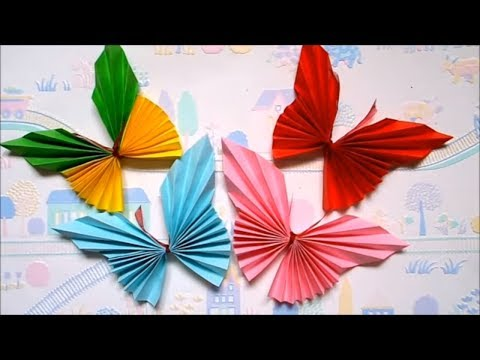 HOW TO MAKE PAPER BUTTERFLY   EASY ORIGAMI FOR KIDS   MAISON ZIZOU