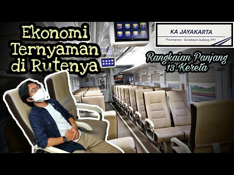 Naik Kereta Api Jayakarta Premium Jakarta - Surabaya    Ekonomi Ternyaman Lintas Selatan