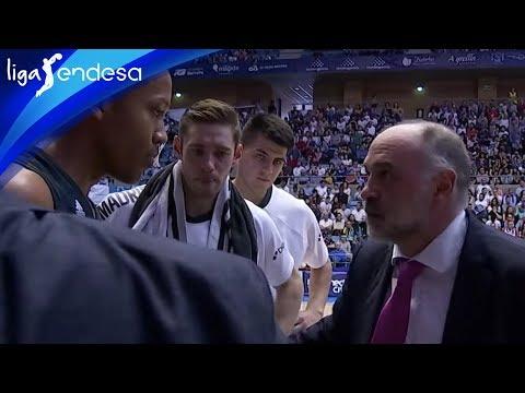 La bronca de Pablo Laso a Melwin Pantzar en el partido contra el Obradoiro