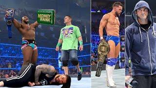 निशाना बने Roman reigns - BIG E Cashes in MITB, Roman reigns Vs John Cena   WWE Smackdown Highlights