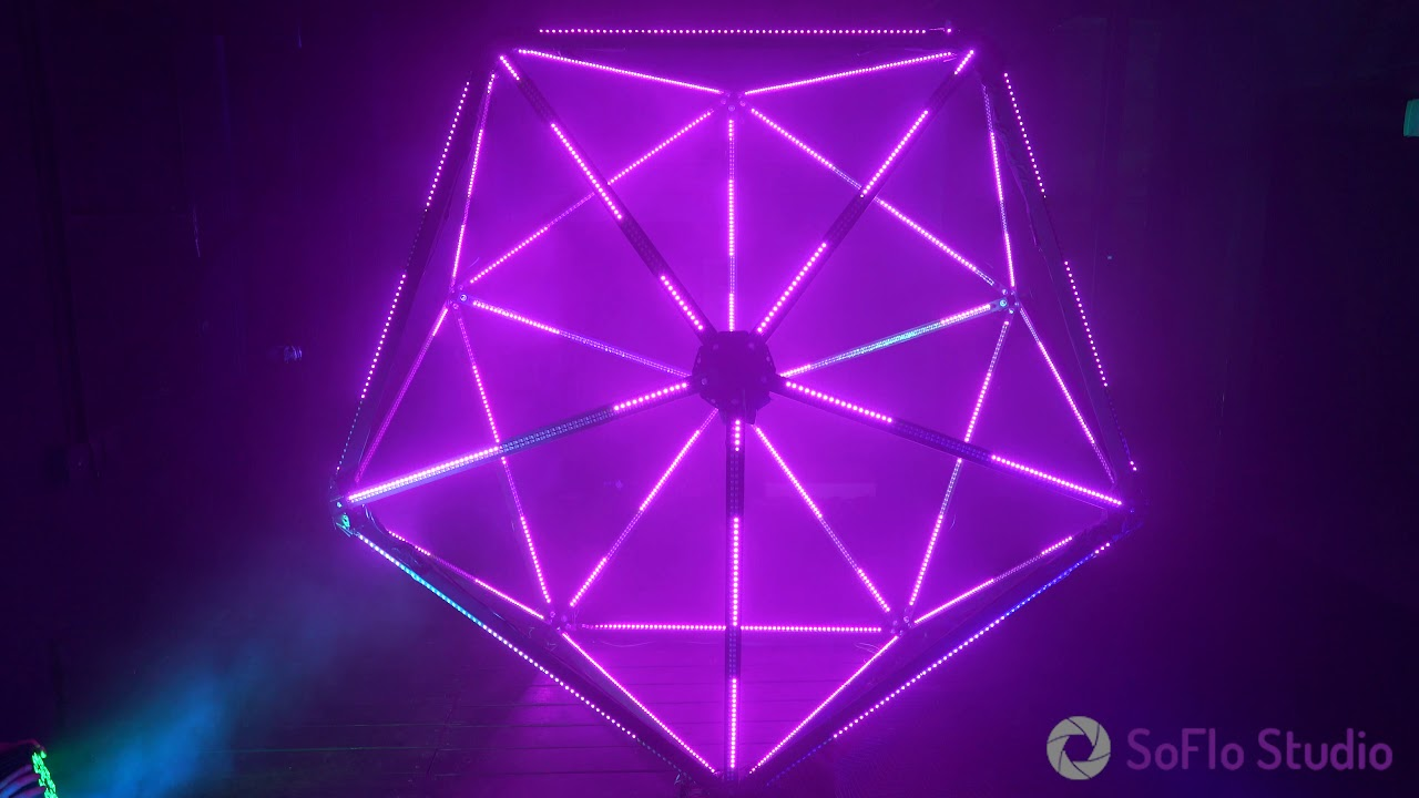music-video-lighting-solutions-in-miami-polyhedral-light-cage-setup