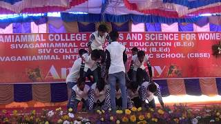 Bam Bhole  Viruss  Sivagamiammal college pyramid stunt B Com department 1 2 3 YEAR