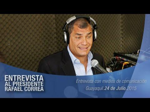 Entrevista al Presidente Rafael Correa, Radio i99 Guayaquil, 24/07/2015
