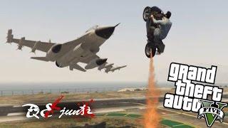 【DE Jun】戰鬥機的正確打開方式 (GTA5 Funny Moments and Fails)