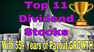 Top 11 BEST Dividend Stocks With 55+ YEARS Of Payout Growth These Are The BEST Stocks Money Can Buy!
