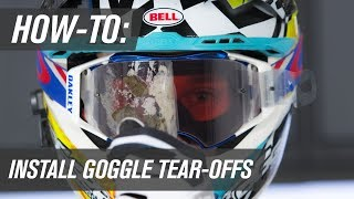 How To Install Motocross Goggle Tear Offs