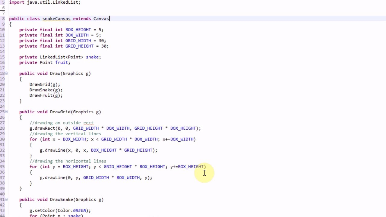 Making snake in java part 2 creating structure youtube making snake in java part 2 creating structure baditri Gallery