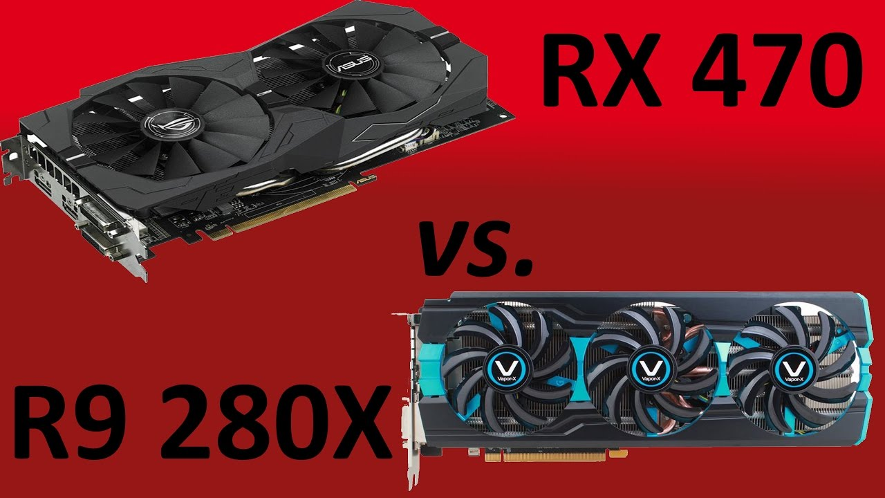 Benchmark 1080p |Asus RX 470 8GB vs Vapor-X R9 280X 3GB|Battlefield 1,  Witcher 3, Civilization VI