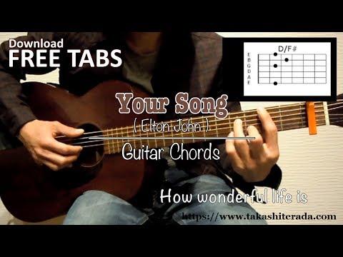 Your Song (Elton John) - Guitar Chords / Takashi Terada