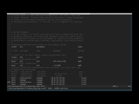 Configuration d'un cluster PostgreSQL master/slave avec repmgr