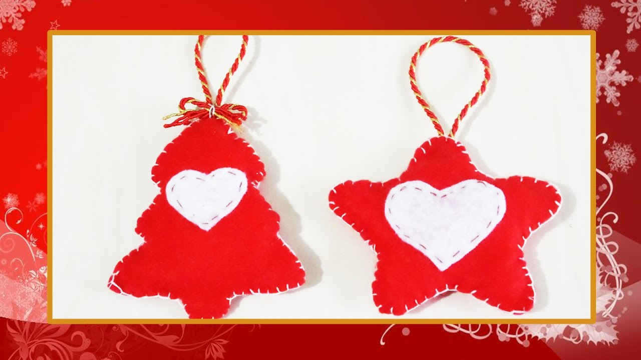 Tutorial decorazioni natalizie in feltro albero e stella for Youtube decorazioni natalizie