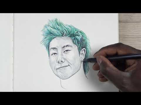 Drawing ZHC (YouTube Artist) Ballpoint Pen - DeMoose Art