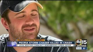 Peoria storm chaser Corbin Jaeger killed in crash