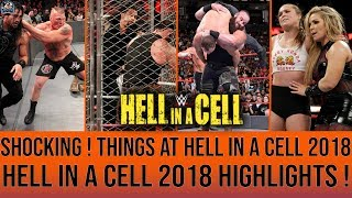 SHOCKING ! Things At HELL IN A CELL 2018 ! Braun THROW Roman ! WWE Hell in A Cell 2018 Highlights