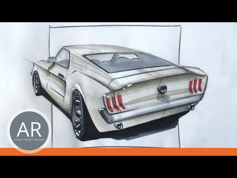 Oldtimer zeichnen – Autos Zeichnen lernen. Mappevorbereitungskurs Transportationdesign