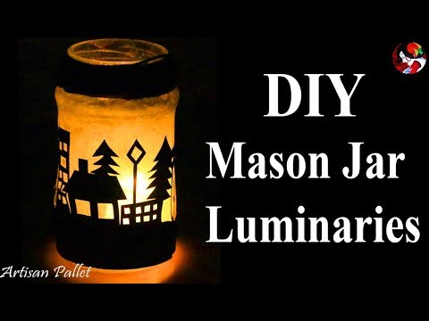 Easy DIY Holiday Creative Mason Jar Lantern | Holiday Mason Jar Luminaries