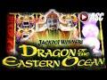 *NEW* DRAGON OF THE EASTERN OCEAN   Aristocrat - BIG WIN! Slot Machine Jackpot Feature & Line Hits
