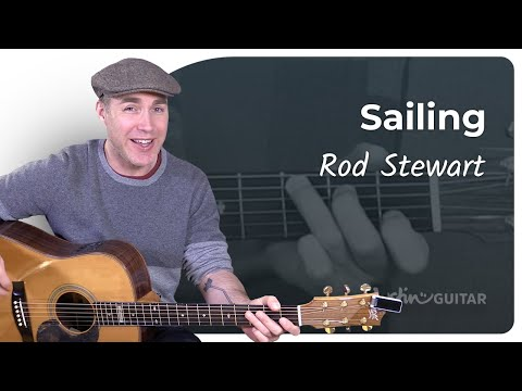 EASY GUITAR How to play Sailing by Rod Stewart - Guitar Lesson Tutorial
