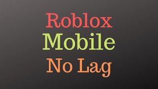 How to fix lag of Roblox on mobile | AS Gaming