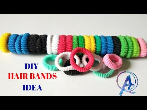 diy craft from old hair rubber bands || best diy craft from old hair bands and water strainer