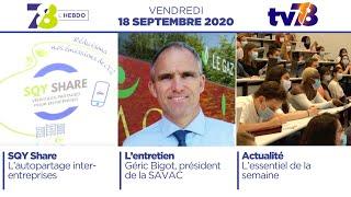 7/8 L'Hebdo. Edition du 18 septembre 2020