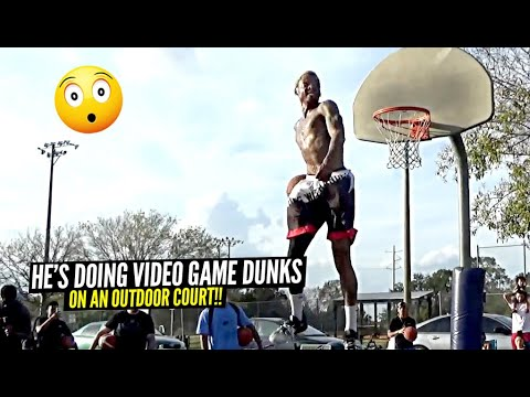 INSANE DUNKS on Outdoor Court By Pro Dunkers! He Does ALL The NBA 2K Dunks In REAL LIFE!!