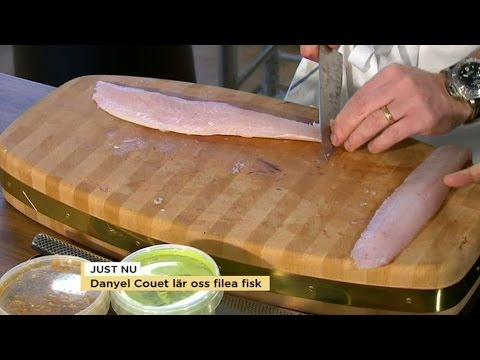 Danuel Couet lär oss att filéa fisk - Nyhetsmorgon (TV4)