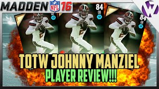 Madden 16 TOTW JOHNNY MANZIEL Review (84) - 84 Johnny Manziel Player Review Madden 16 Ultimate Team