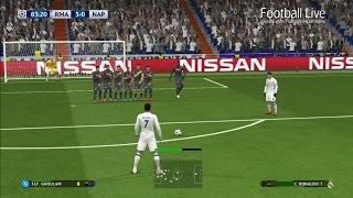 PES 2017 | Real Madrid vs Napoli | Ronaldo poker & Free Kick Goal | UEFA Champions League