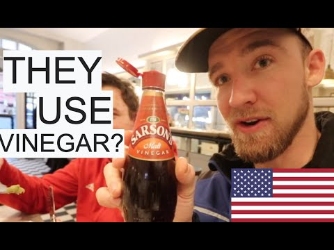 American Tries British Fish N' Chips In London For The FIRST TIME