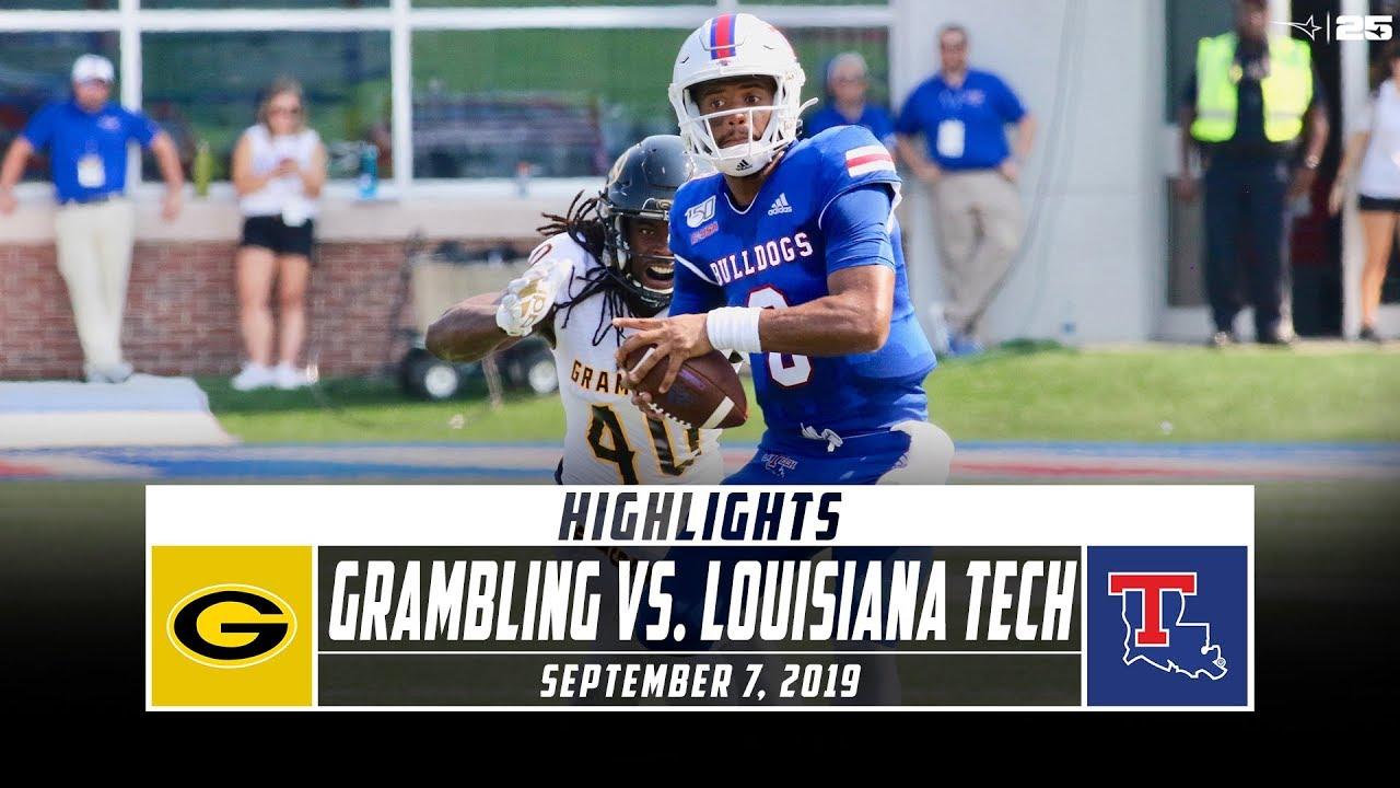 Grambling Vs Louisiana Tech Football Highlights 2019 Stadium Youtube