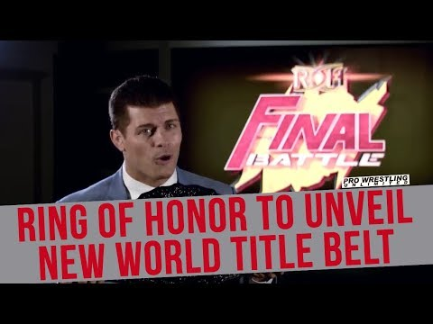 Ring Of Honor To Unveil New World Title Belt At Final Battle