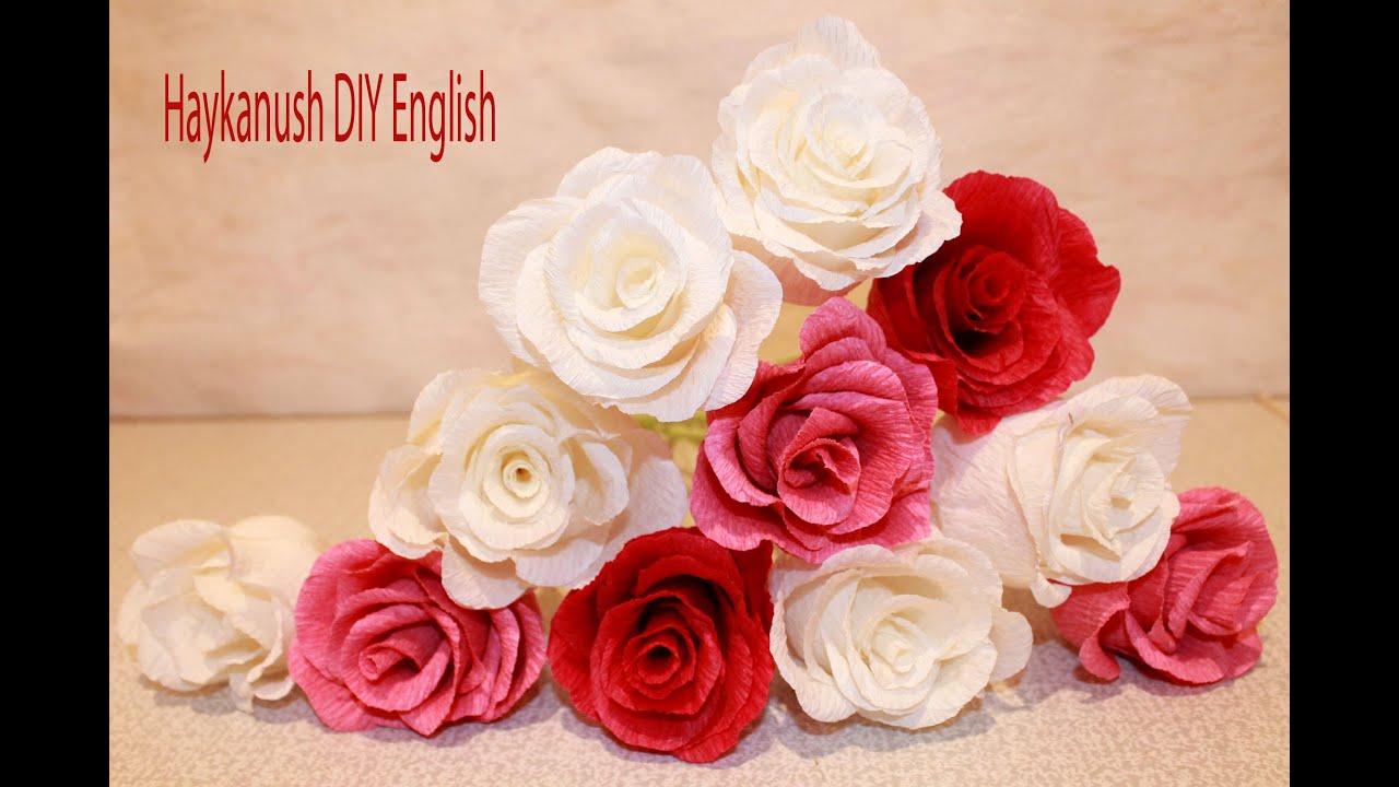 Como hacer flores de papel crepe rosa flores youtube - Como hacer flores ...